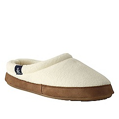 Lands' End - Cream women's fleece clog slippers