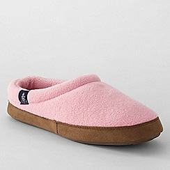 Lands' End - Pink women's fleece clog slippers