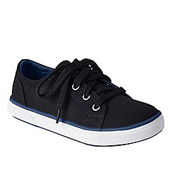 Lands' End - Black kids' canvas trainers