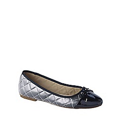 Lands' End - Metallic girls' quilted ballet shoes