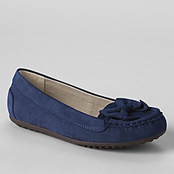Lands' End - Blue jade bow moccasins