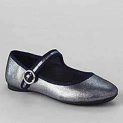 Lands' End - Metallic girls' mary jane shoes