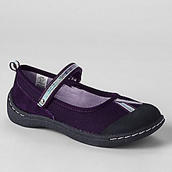 Lands' End - Purple mary jane play shoes