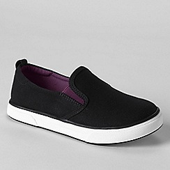 Lands' End - Black kids' slip-on shoes