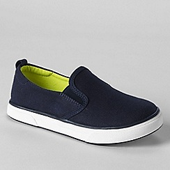 Lands' End - Blue kids' slip-on shoes