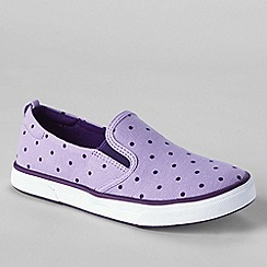 Lands' End - Purple kids' slip-on shoes