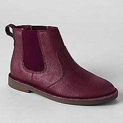 Lands' End - Red girls' chelsea boots