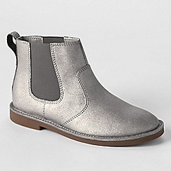 Lands' End - Metallic girls' chelsea boots