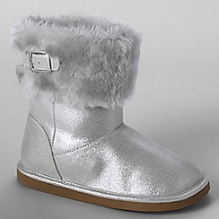 Lands' End - Metallic girls' cosy boots