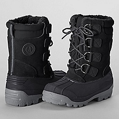 Lands' End - Black kids' expedition boots