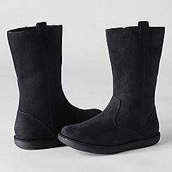 Lands' End - Black girls' lacey casual boots