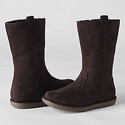 Lands' End - Brown girls' lacey casual boots