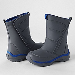 Lands' End - Grey kids' snow flurry boots