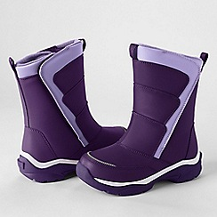Lands' End - Purple kids' snow flurry boots