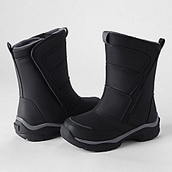 Lands' End - Black kids' snow flurry boots