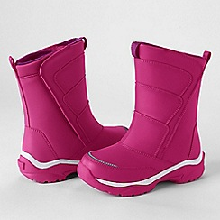 Lands' End - Pink kids' snow flurry boots