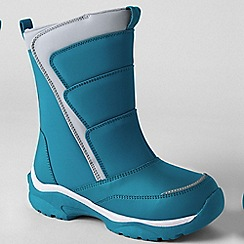 Lands' End - Blue kids' snow flurry boots