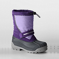 Lands' End - Purple kids' snow plough boots