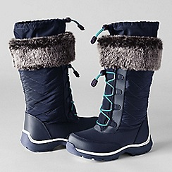Lands' End - Blue girls' snowflake boots