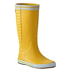 Lands' End - Yellow men's rain boots