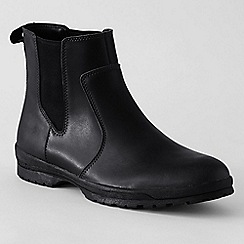 Lands' End - Black men's winter chelsea boots