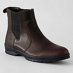 Lands' End - Brown men's winter chelsea boots