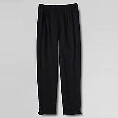 Lands' End - Black little girls' drapey twill trousers