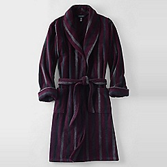 Lands' End - Red men's striped turkish terry bath robe