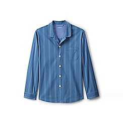 Lands' End - Blue broadcloth pyjama top