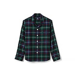 Lands' End - Green flannel pyjama jacket