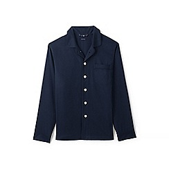 Lands' End - Blue flannel pyjama jacket