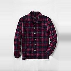 Lands' End - Red men's flannel pyjama jacket