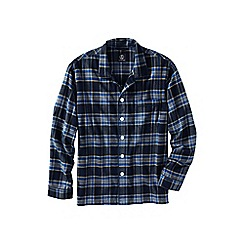 Lands' End - Blue men's flannel pyjama jacket