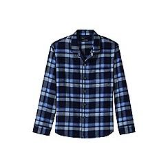 Lands' End - Blue flannel pyjama shirt
