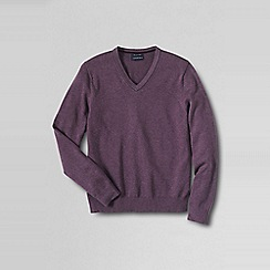 Lands' End - Purple fine gauge tipped v-neck sweater
