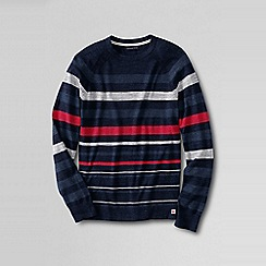 Lands' End - Blue men's stripe mariner sweater tee