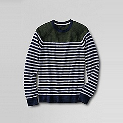 Lands' End - Green men's stripe mariner sweater tee