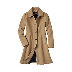 Lands' End - Cream women's luxe wool car coat