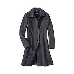 Lands' End - Grey women's luxe wool car coat