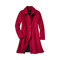 Lands' End - Red women's luxe wool car coat