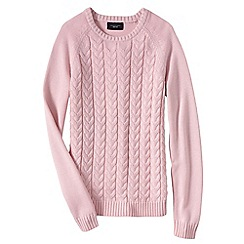 Lands' End - Pink women's drifter mixed stitch crew neck