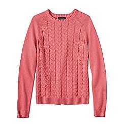 Lands' End - Pink women's drifter mixed stitch crew neck