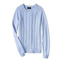 Lands' End - Blue women's drifter mixed stitch crew neck