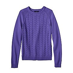 Lands' End - Purple petite drifter mixed stitch crew neck