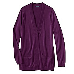 Lands' End - Red women's fine gauge cotton open cardigan