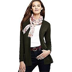 Lands' End - Grey women's fine gauge cotton open cardigan
