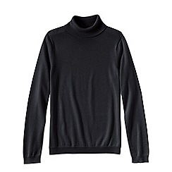 Lands' End - Black women's supima long sleeve roll neck