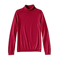 Lands' End - Red women's supima long sleeve roll neck