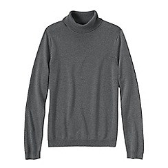 Lands' End - Grey women's supima long sleeve roll neck