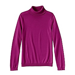 Lands' End - Pink women's supima long sleeve roll neck